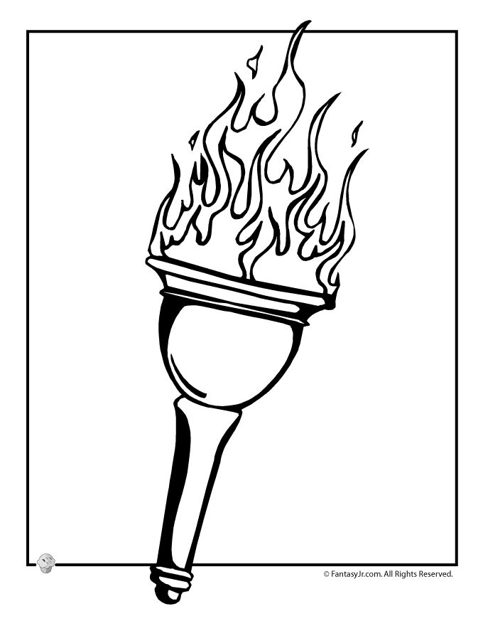 Fantasy Jr. | Olympic Torch Coloring Page