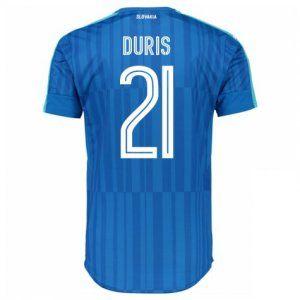 Slovakia National Team 2016 Away Jersey Blue Soccer Shirt #21 Duris [E355]