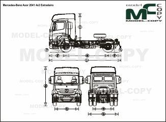 Mercedes-Benz Axor 2041 4x2 Estradeiro - drawing