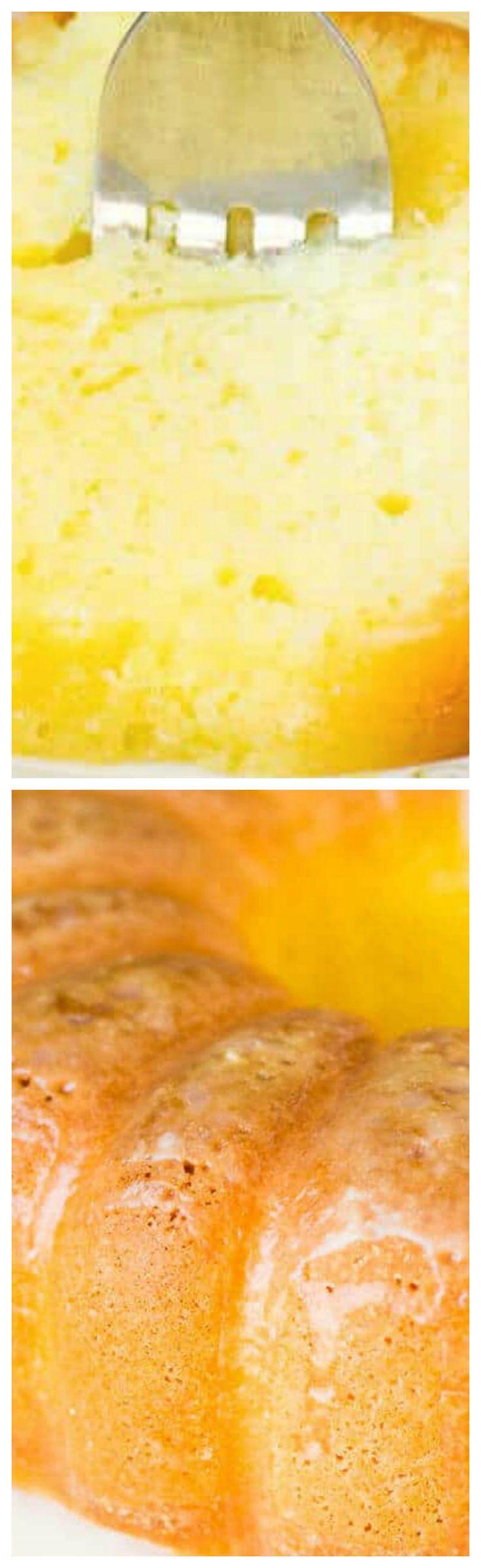 Lemon Pound Cake ~ Easy, moist and delicious... Lemon jello and a lemon glaze gives this semi-homemade bundt cake an amazing flavor.