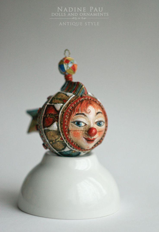 Надежда Шахристенберг (nadinepau) Рыбка Клоун, елочная игрушка