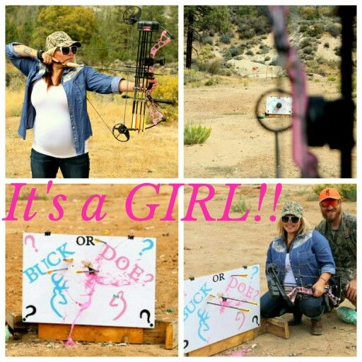 It's a girl! Gender reveal pregnancy announcement