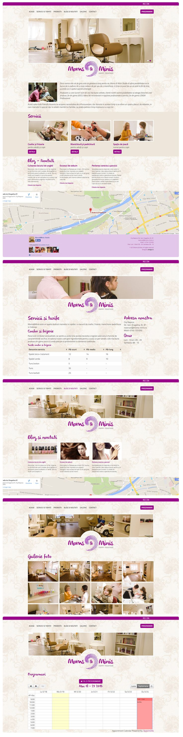 Webdesign for Moms & Minis