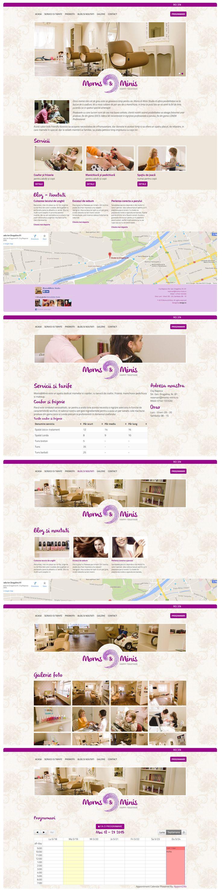 Webdesign for Moms & Minis