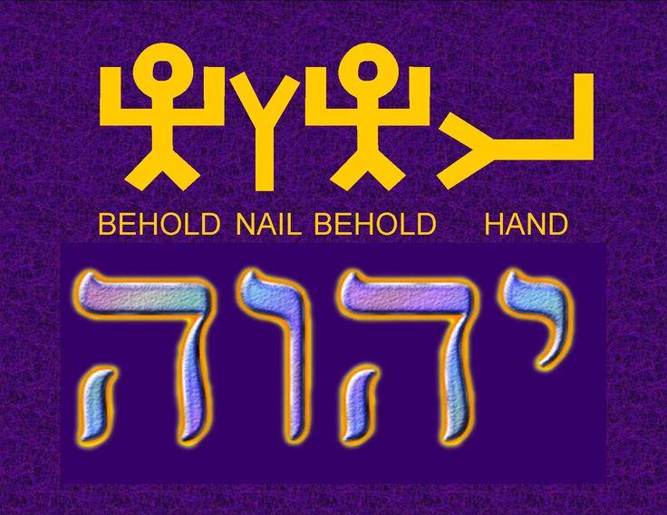 Yahweh in Paleo Hebrew   YHWH ~ Pictograph Hebrew   YHWH   Pinterest   Paleo