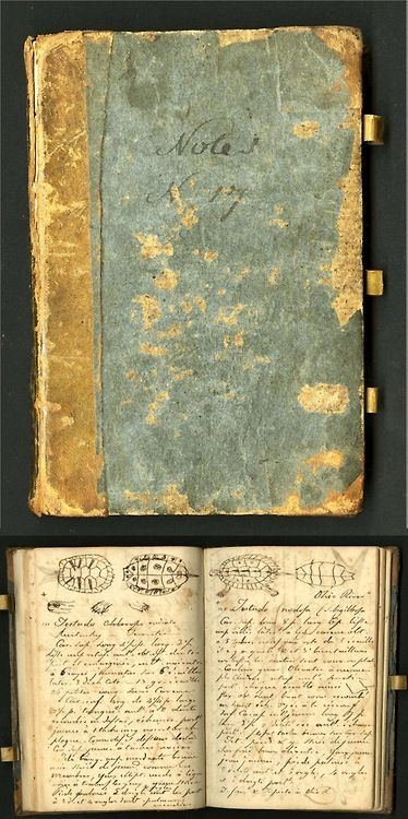 Constantine Rafinesque, a polymathic genius who annotated his travels across early America. The Smithsonian has digitized 393 field books from scientists between 1800 and 1950;