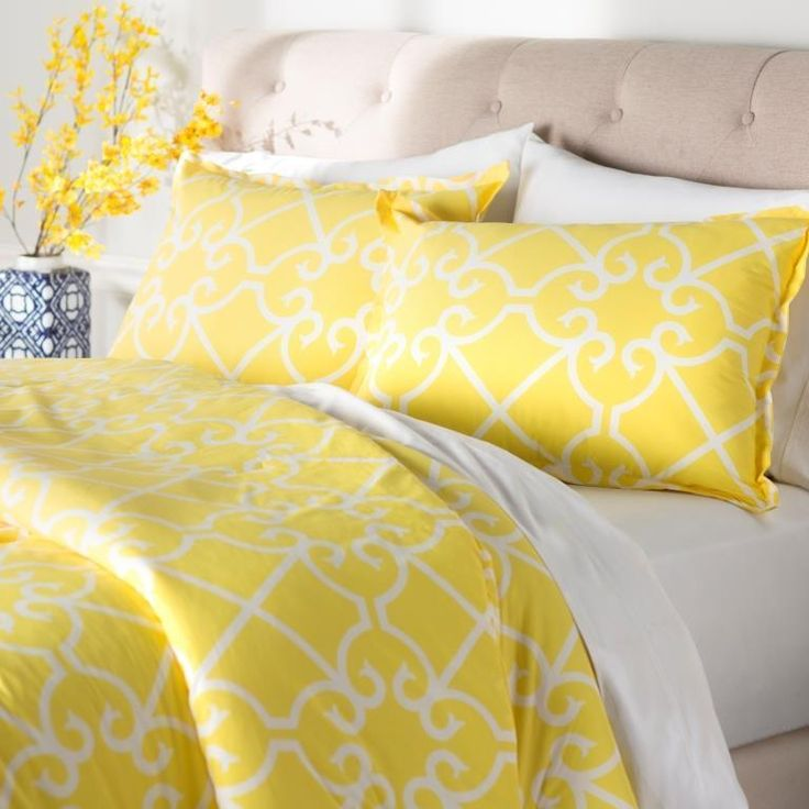 City Scene Caroline Yellow Comforter & Sham Set