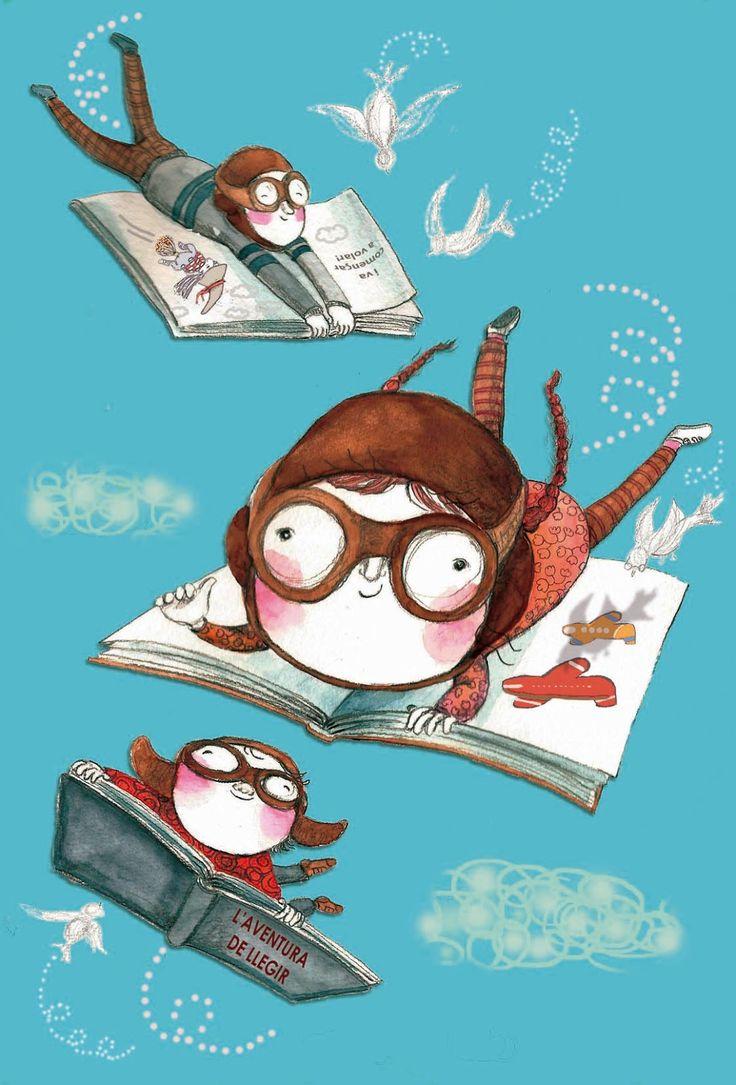 La aventura de leer. (Ilustración de Antonia Bonell) #BibUpo