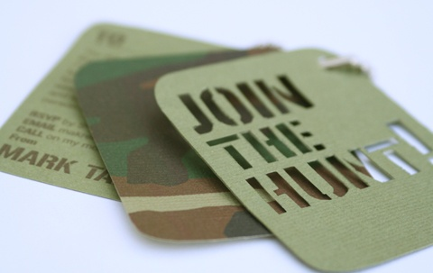 Dog tag invites for a stag do!