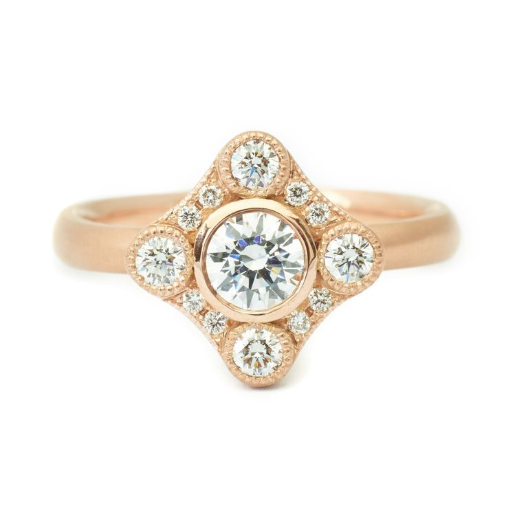 Ella Engagement Ring  #engagementring #vintagering #alternativebridal #diamondring #annesportun #preciouseveryday #vintagebridal