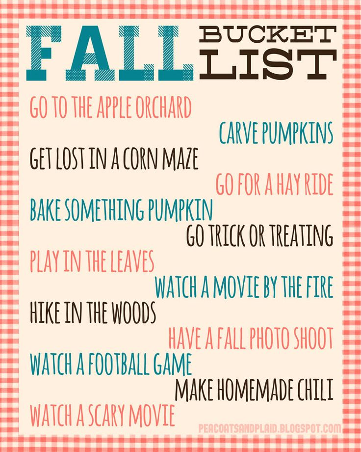 108 best Fall Bucket List Printables images on Pinterest Autumn - what do you do for fun