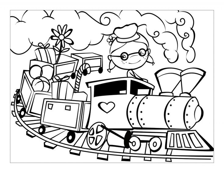 29 Best Images About Trains Coloring Pages On Pinterest