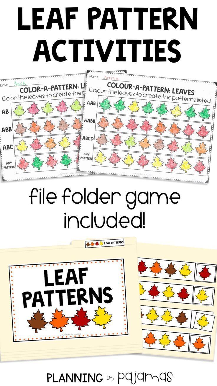 Leaf Pattern Aktivitaten In Einem Herbst Herbst Thema Enthalten 2 Arbeitsblatter Fragen S Preschool Pattern Worksheets Preschool Patterns Pattern Worksheet [ 1308 x 736 Pixel ]