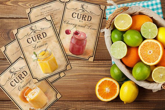 Recipes For Easy Curd Recipe Cards Best by BlueberryDreamDesign