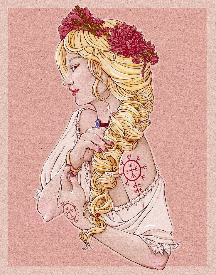 Slavic beauty with croatian Tattoo #slavicbeauty #slava #slowianka #rodzimowierstwo