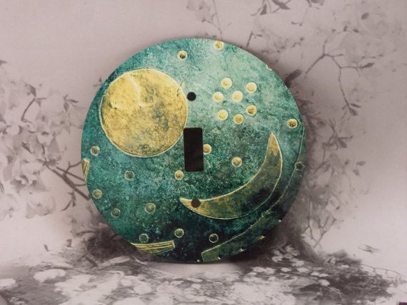 Round Moon Toggle Light Switch Covers  Moon and by dynastyprints