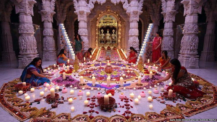 Diwali! Neasden Temple, UK. Photo: BAPS Shri Swaminarayan Mandir