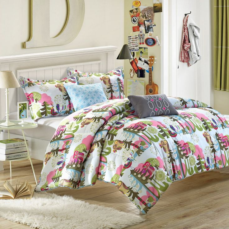 forest owl 9piece reversible comforter set full size sheet set shams