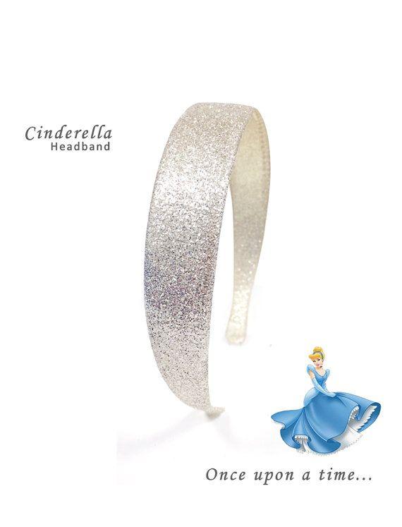 Cinderella Party Costume Dress Glitter Diamond Silver Headband// Disney// Princess// Costume Prop// Photo Prop// Party Favors