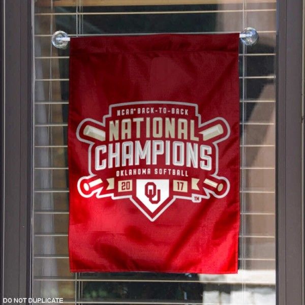 OU Sooners 2017 Softball National Champions Garden Flag