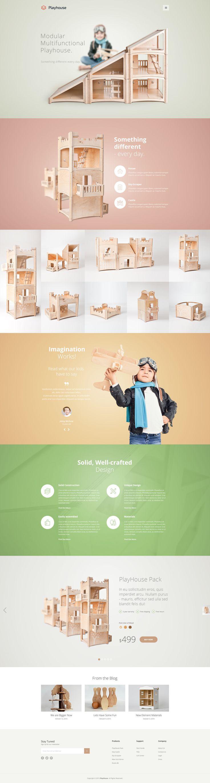 PlayHouse - Modest Shop - eCommerce PSD Template by bcubepl #webdesign