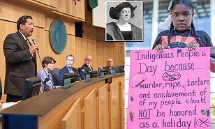 """Liberal Seattle, WA has banned Columbus Day and replaced it with """"Indigenous People's Day"""" with poster's saying """"Murder, rape, torture and enslavement of of (sic) my people should NOT be honored as a holiday"""". Time to boycott Seattle and add it to your list. This country really is absurd at this point. With a jack ass ruling over it for the last 6 years it's not surprising that it's gone the route of liberal idiots and become 3rd rate."""