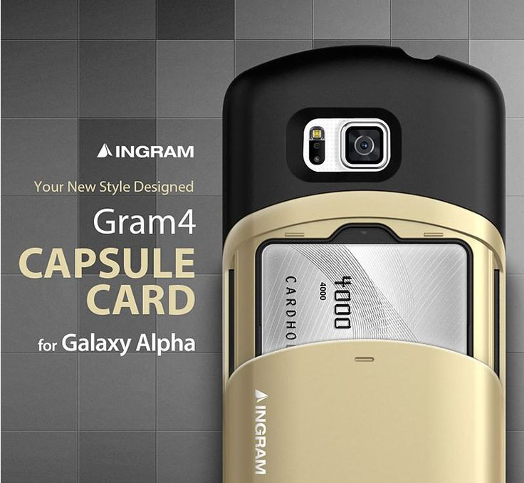 INGRAM GRAM 4 CAPSULE CARD CASE FOR GALAXY ALPHA. $29.99