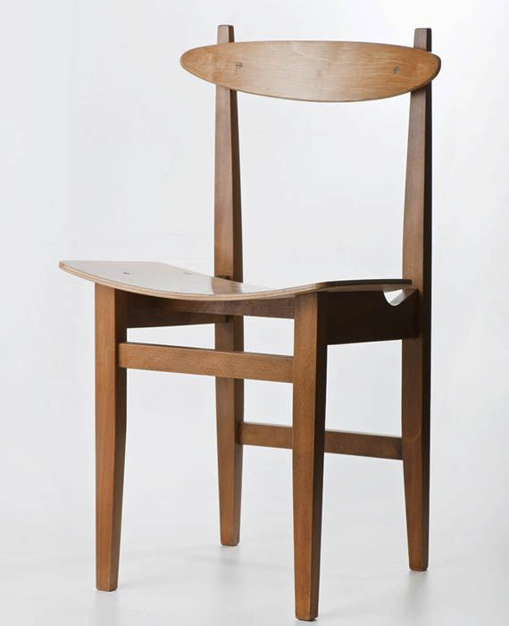 Maria Chomentowska, chair, produced by the Great Proletariat Factory in Elbląg, ca. 1960 Collections of the National Museum in Warsaw, photo: Michał Korta