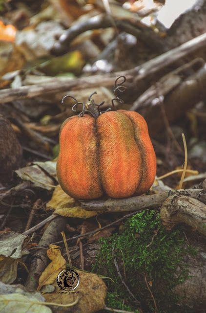 Handmade fabric toy Autumn pumpkins. Осенние тыквы.