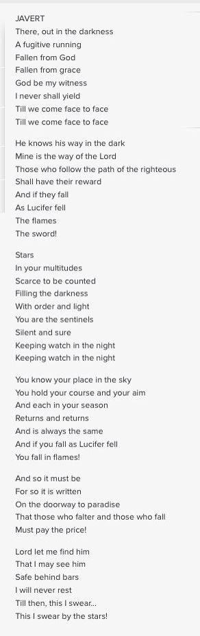 Stars - Les Mis