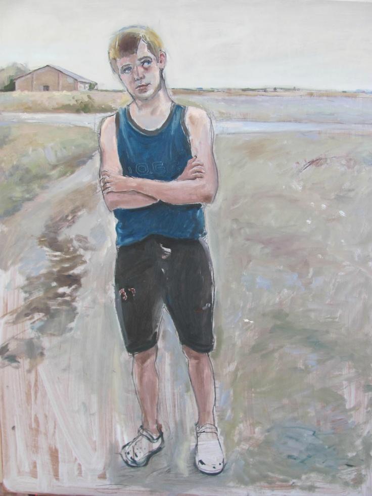 Sadko Hadzihasanovic: Zoki from V.Misic street in Klarija. Oil on masonite.