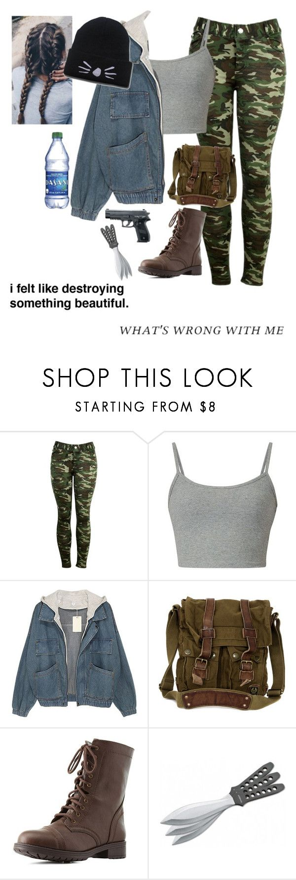 """Untitled #468"" by princessmaniac-5sos ❤ liked on Polyvore featuring Belstaff, Charlotte Russe and Böker"