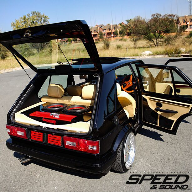 black magic volkswagen golf mk1 with digital design install custom interior mk2 ideas. Black Bedroom Furniture Sets. Home Design Ideas