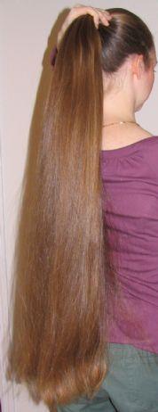 how to cut hip length hair