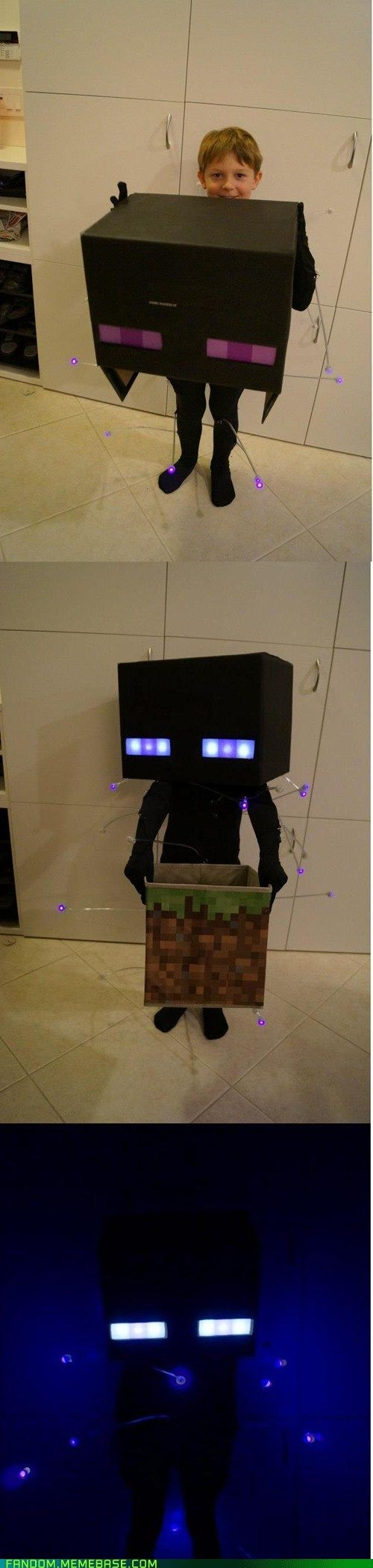 Glowing Enderman Costume - My daughter would LOVE this costume