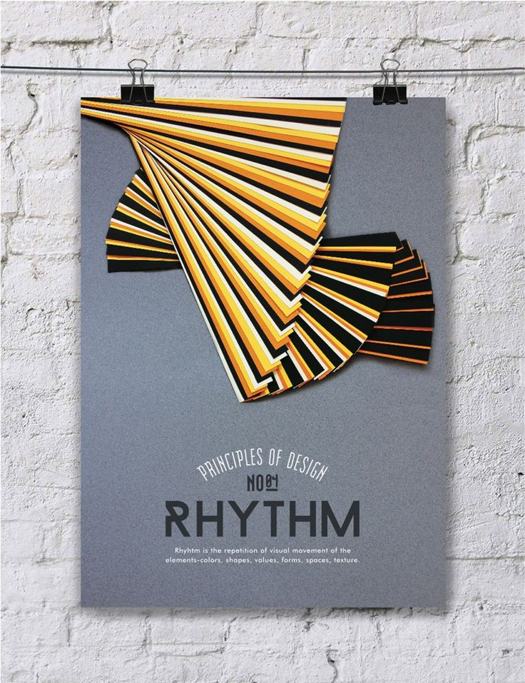 This series of paper art posters is awesome | Paper Art: Principle of Design Poster Series - JOQUZ