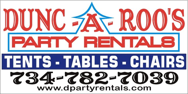 Tent Table Chair Rental