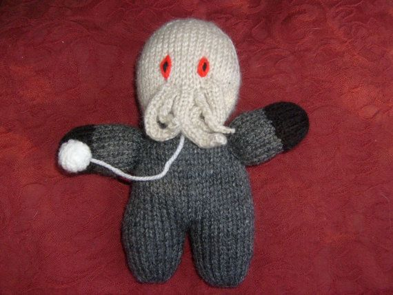 Ood, Doctor Who, Hand Knitted Toy, Monster, Plush on Etsy, $15.81