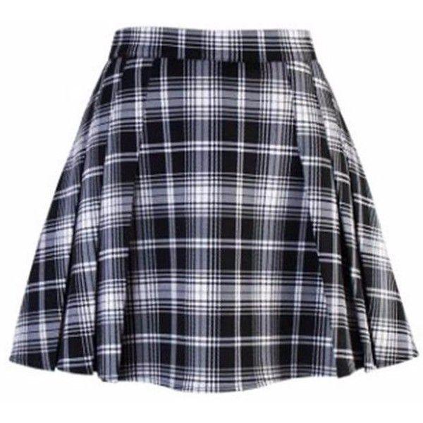 High Waist Pleated Plaid Mini Skirt ($32) ❤ liked on Polyvore featuring skirts, mini skirts, bottoms, plaid skirt, short pleated skirt, blue plaid skirt, pleated skirt and blue pleated mini skirt