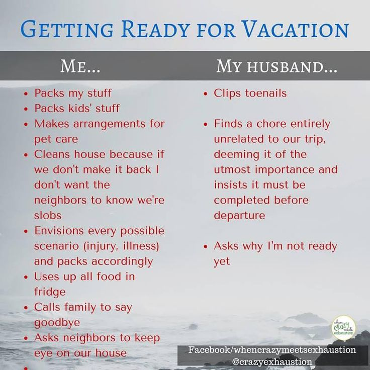 Getting ready for vacation ...