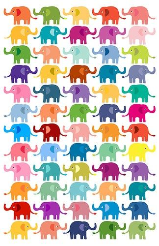 SO many colorful elephants Wallpaper iPhone 4/4S and iPhone 5/5S/5C iphonetokok-infinity.hu galaxytokok-infinity.hu
