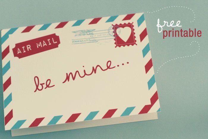 Free Air Mail Valentine Card Printable! – Wonder Forest