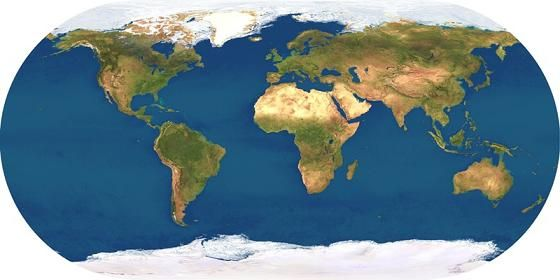 Localización de las placas tectónicas de la Tierra en mapas.