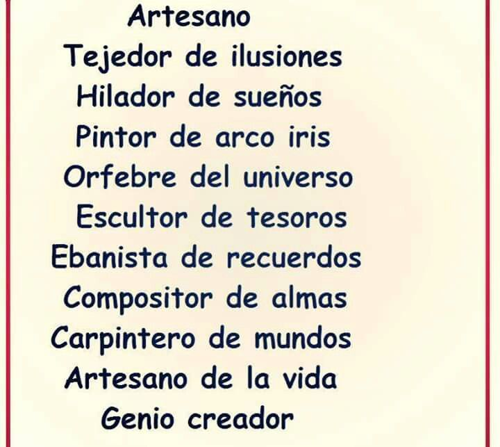 Feliz dia del Artesano!!