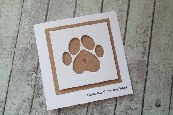 Pet sympathy card / Ginger Ninja Craft Shop