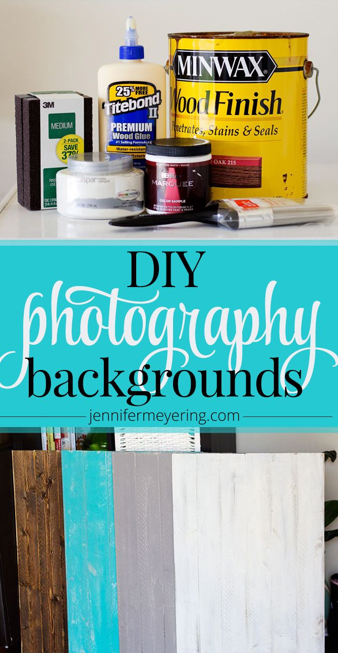 DIY Food Photo Backgrounds - JenniferMeyering.com