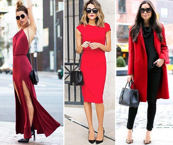 Modelos looks vermelhos