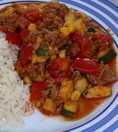 Hackfleisch - Gemüse - Pfanne
