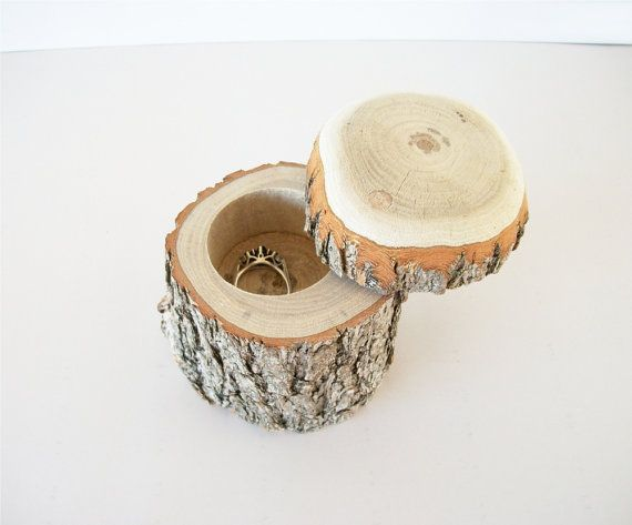 Handmade Wood Jewelry Box With Lid Rustic by TraditionalByNature