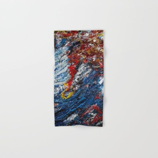 Water - Make your reflection jealous with this artist-designed Bath Towel. The soft polyester-microfiber front and cotton terry back are perfect for, well, drying your front and back. This design is also available as a hand and beach towel. Machine washable.